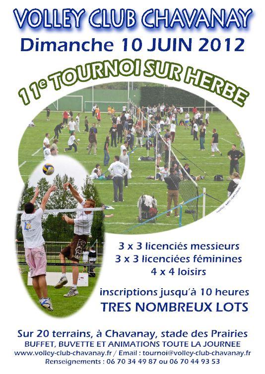 Affiche du tournoi sur herbe 2012