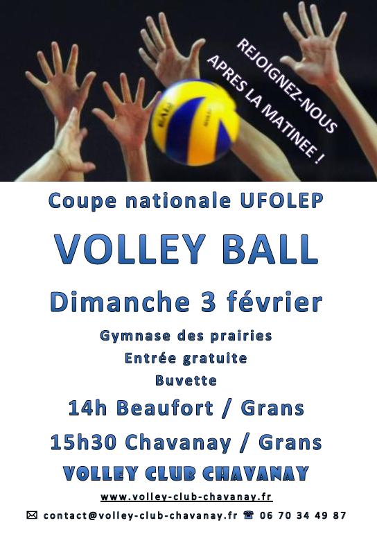 Coupe nationale Volley  UFOLEP - Dimanche 3 février - Chavanay